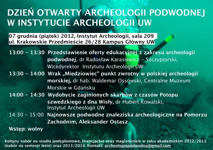 dzien otwarty archeologii plakat
